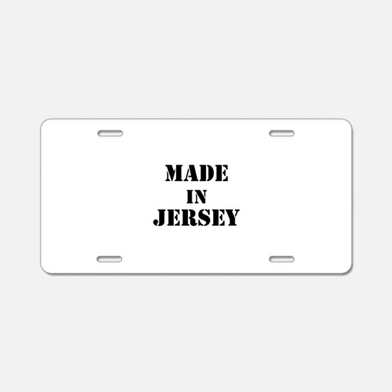 Made in Jersey Aluminum License Plate