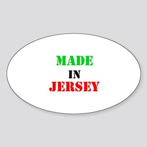 Made in Jersey Sticker (Oval)