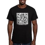 QR Men's Fitted T-Shirt (dark)