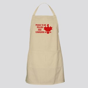 Proud To Be Polish and Canadian Apron