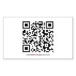 QR Sticker (Rectangle 10 pk)