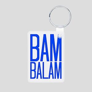 Bam Balam - Blue Aluminum Photo Keychain