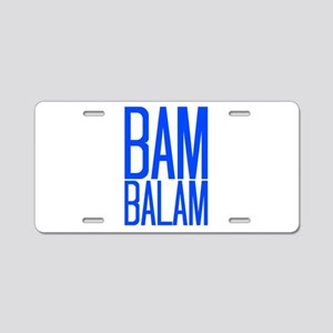 Bam Balam - Blue Aluminum License Plate