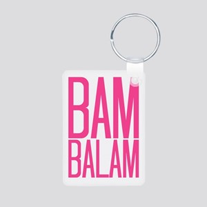 Bam Balam - Pink Aluminum Photo Keychain
