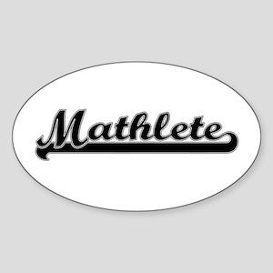 Mathlete Oval Sticker