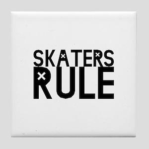 Skaters Rule Tile Coaster