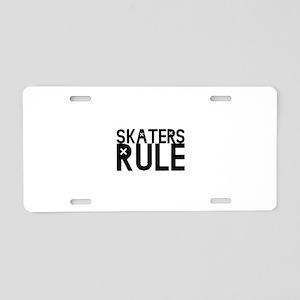 Skaters Rule Aluminum License Plate