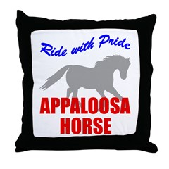 Ride With Pride Appaloosa Horse Throw Pillow