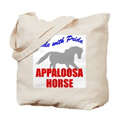 Ride With Pride Appaloosa Horse Tote Bag