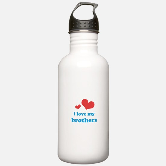 I Love My Brothers Water Bottle