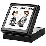 Gay Wedding 2 Grooms Keepsake Box
