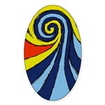 Surf Wave - Sticker (Oval)