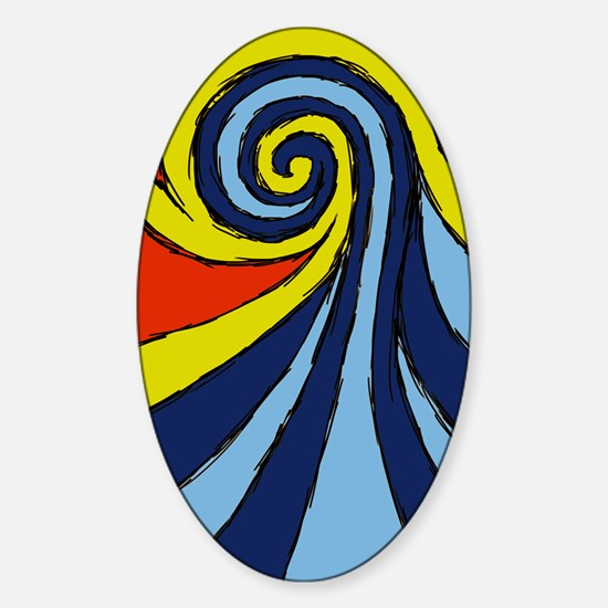 Surf Wave - Sticker (Oval)