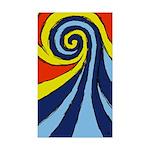 Surf Wave - Sticker (Rectangle 50 pk)