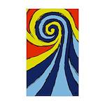 Surf Wave - Sticker (Rectangle)