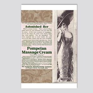 Pompeian Cream 1909 ad Postcards (Package of 8)
