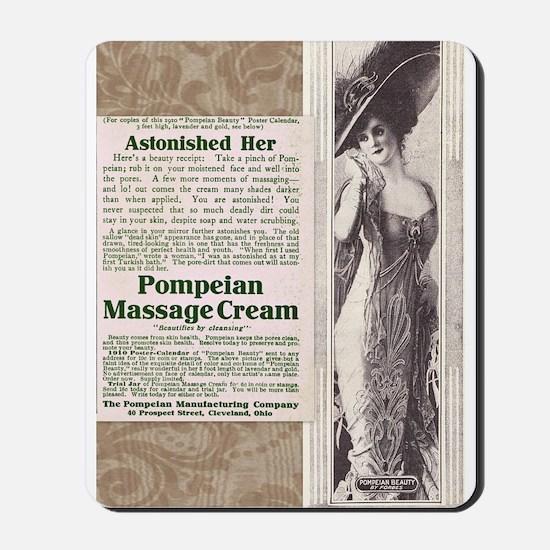 Pompeian Cream 1909 ad Mousepad