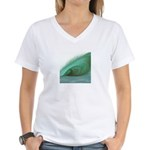 Wave Art - Women's V-Neck T-Shirt