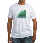 Wave Art - Fitted T-Shirt