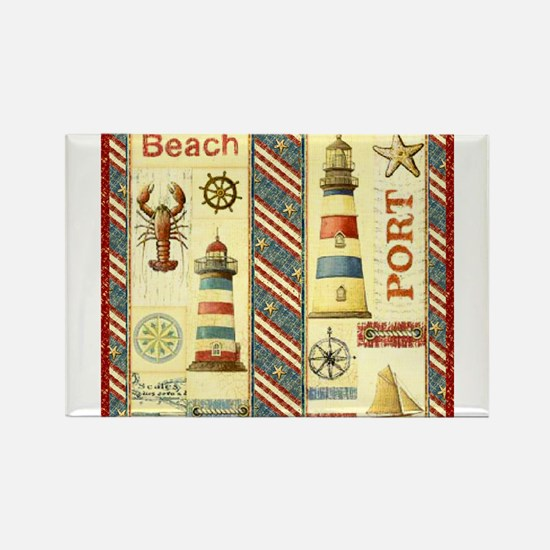 Scenic maine lighthouse Rectangle Magnet