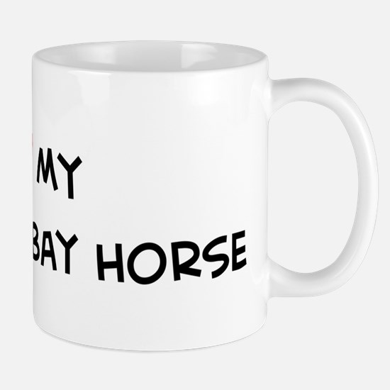 I Love Cleveland Bay Horse Mug