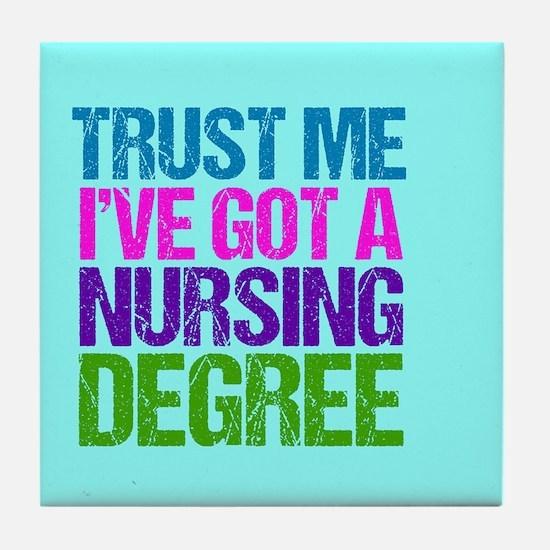 Trust Me Nurse Tile Coaster