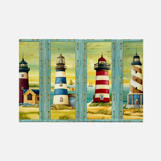 Funny Scenic maine lighthouse Rectangle Magnet