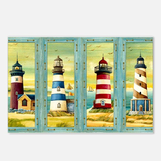 Cute Lighthouse Postcards (Package of 8)