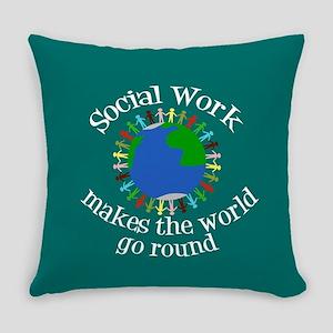 Social Work World Everyday Pillow