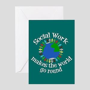 Social Work World Greeting Card
