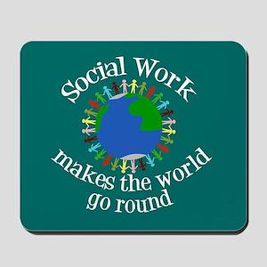 Social Work World Mousepad