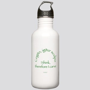 I Think, Therefore I Carve Stainless Water Bottle