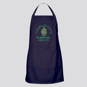 Rather Be Carving Butternut Apron (dark)