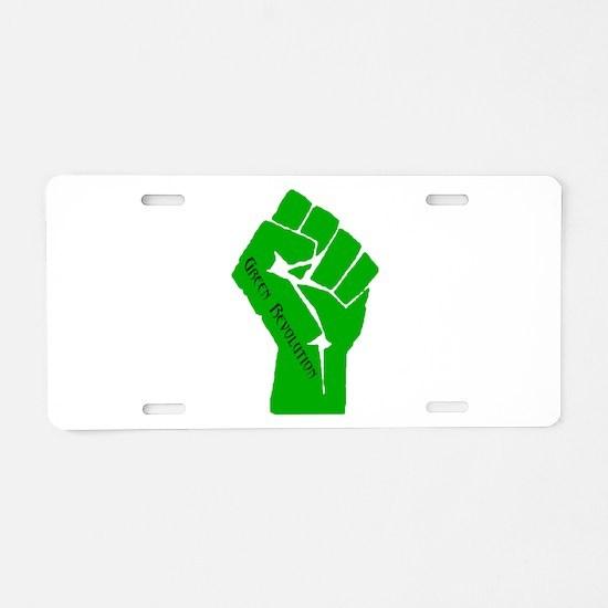Green Revolution Aluminum License Plate