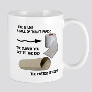 Funny Toilet Paper Life Mug