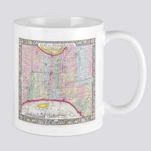 Vintage Map of Philadelphia Pennsylvania (186 Mugs