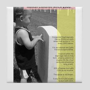 Save the Cherubs - Kaleigh Myers 01 Tile Coaster