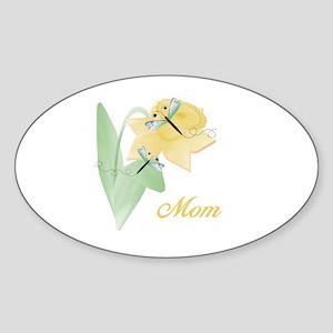 Mom (dragonfly) Oval Sticker