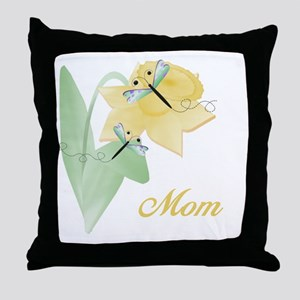 Mom (dragonfly) Throw Pillow