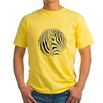 Zebra Art Yellow T-Shirt
