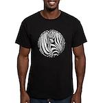 Zebra Art Men's Fitted T-Shirt (dark)
