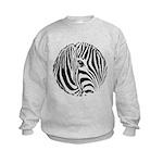 Zebra Art Kids Sweatshirt