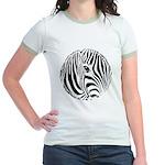 Zebra Art Jr. Ringer T-Shirt
