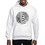 Zebra Art Hooded Sweatshirt