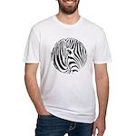Zebra Art Fitted T-Shirt