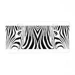 Zebra Art Aluminum License Plate