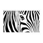 Zebra Art 38.5 x 24.5 Wall Peel