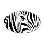 Zebra Art 22x14 Oval Wall Peel