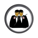 Two Grooms Ethnic Wall Clock