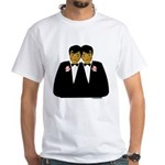 Two Grooms Ethnic White T-Shirt
